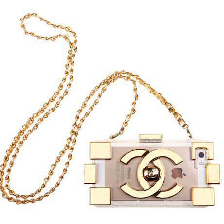 Chanel iphone 5/5s gold fashion case