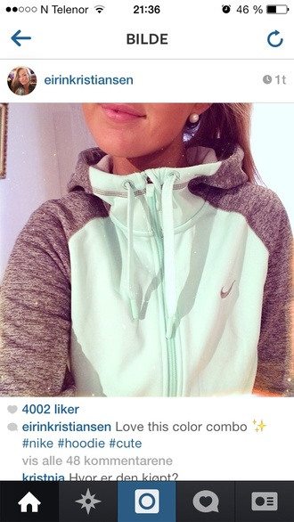 sweater grey mint hoodie coat top jacket sweatshirt nike nike turquoise sweater grey help zip up grey and blue nike jackett nike sweater nike teal sweatshirt green jumper nike jacket