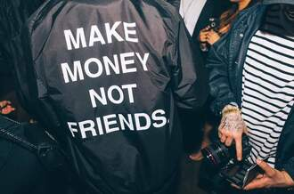 coat menswear black streetwear jacket windbreaker black jacket urban make money not friends water proof black and white