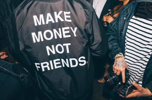 coat menswear black streetwear jacket windbreaker black jacket urban make money not friends water proof black and white