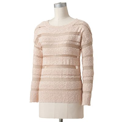 Lc lauren conrad sheer striped sweater