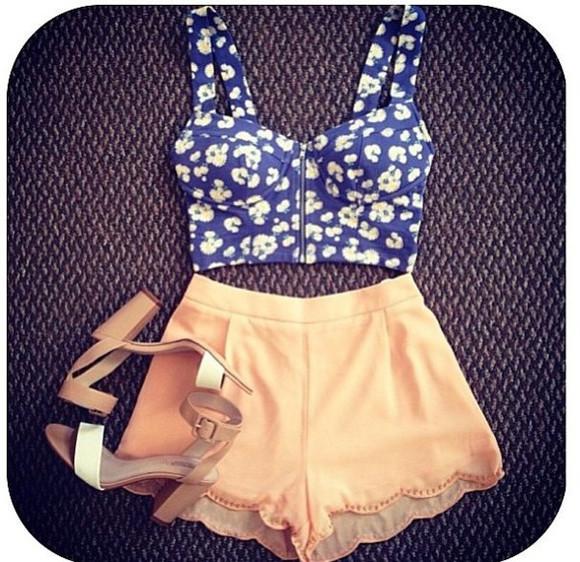 shorts orange shorts tank top peach shorts bralette cropped bralette crop tops