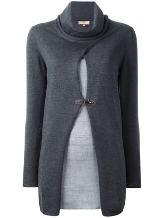 jumper women wool pattern grey sweater