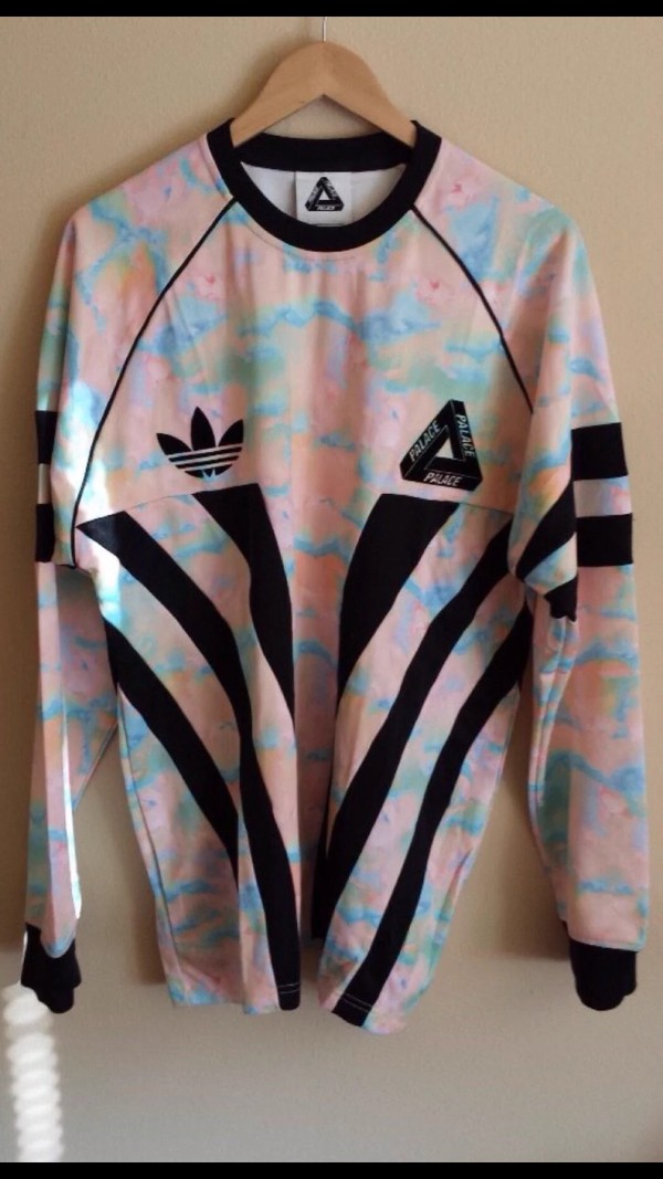Palace Skateboards Palace x Adidas LS Goalie tee in Rainbow Marble from Ti hian's closet on Poshmark