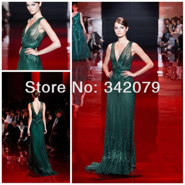 dress, green dress, green evening dress, green evening gowns, forest ...