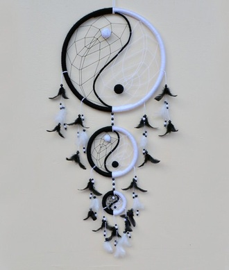 home accessory yin yang dreamcatcher