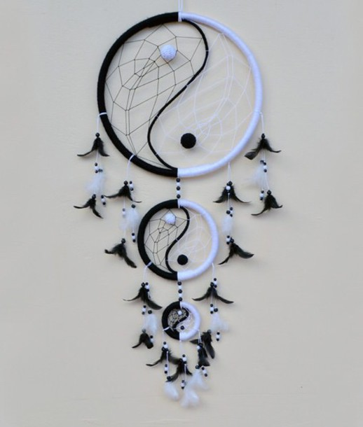 Home Accessory Yin Yang Dreamcatcher Wheretoget