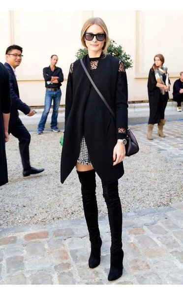 Celeb Style Over The Knee Black Suede Boots - from The Fashion Bible UK