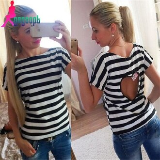 shirt t-shirt striped shirt