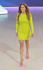dress,lime,lime dress,green dress,yellow,yellow dress,long sleeves,long sleeve dress,bodycon,bodycon dress,party dress,sexy party dresses,sexy,sexy dress,celebrity,celebrity style,celebstyle for less,jennifer lopez,spring dress,spring outfits,classy dress,cocktail dress,cute dress,girly dress,date outfit,birthday dress,clubwear,club dress,homecoming,homecoming dress,wedding guest,wedding clothes,engagement party dress,dope