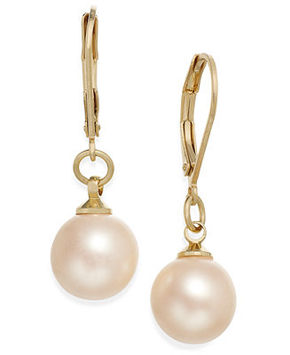 Tone faux pearl drop earrings
