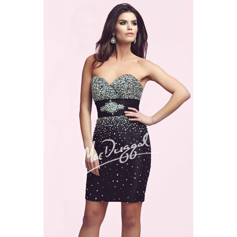 Embellished Strapless Sweetheart Dress by Mac Duggal Homecoming 61440N - Bonny Evening Dresses Online