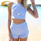 Hot sale woman two piece suit stripe crop top and shorts set - buy crop top and shorts,woman two piece suit,crop top and shorts set product on alibaba.com