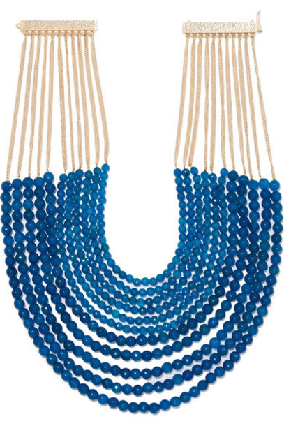 Rosantica necklace gold blue jewels