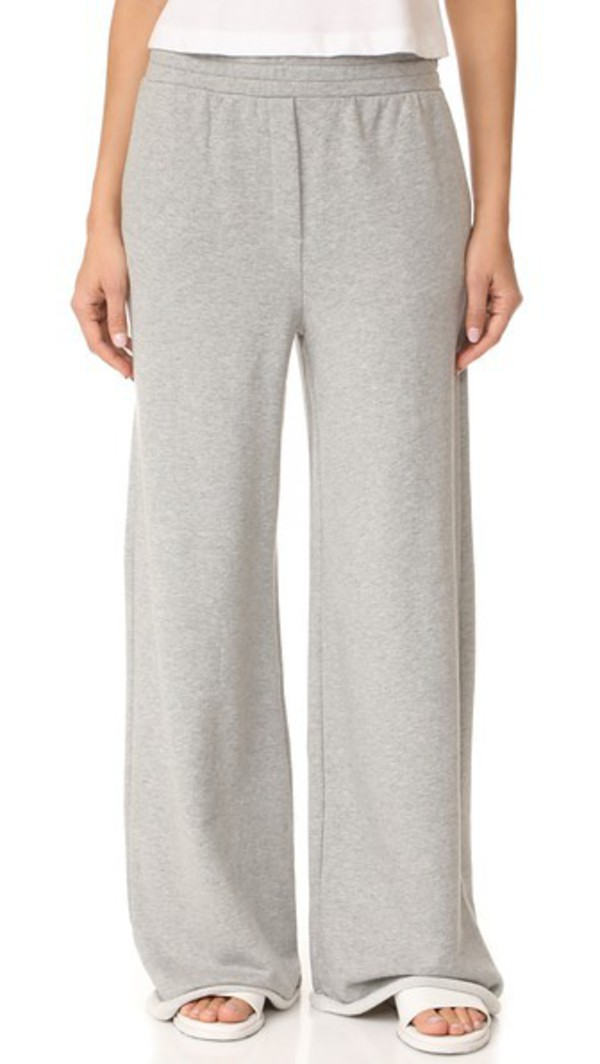 T by Alexander Wang Pull On Wide Leg Pants in grey