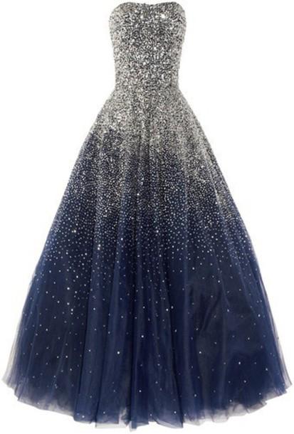 dress sparkle strapless dark blue sparkly prom dress prom dress long prom dress sequin prom dress ball gown dress ball gown prom dresses prom dress 2016