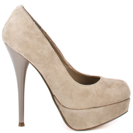 Luichiny's Beige Leg Acy - Taupe Suede for $67.99 direct from heels.com