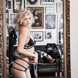 underwear bra black bra lingerie black fashion clothes sexy cute women body bodysuit instagram