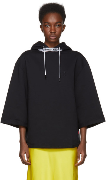 opening ceremony hoodie short black sweater