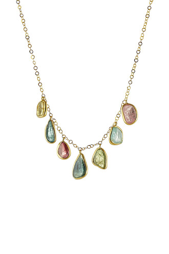 necklace gold necklace gold multicolor jewels