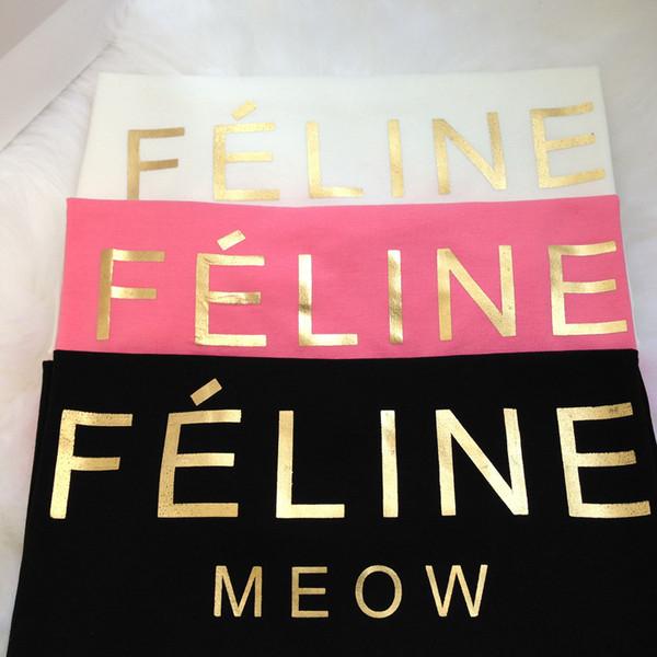 Feline Meow T-Shirt (4 COLORS AVAILABLE) – Glamzelle