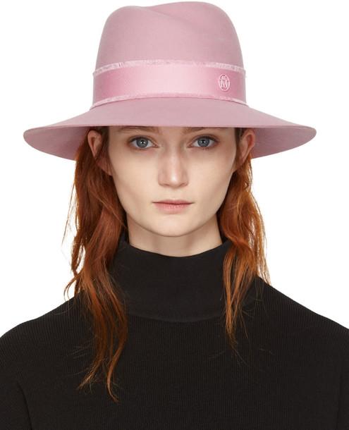 Maison Michel fedora pink hat