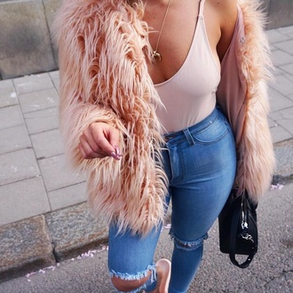 jacket fur coat fur jacket faux fur jacket faux fur light pink