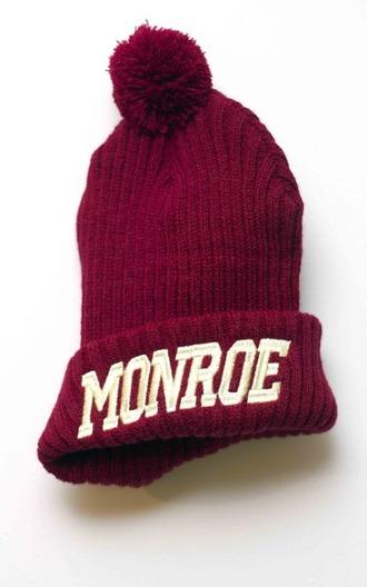 marilyn monroe pom pom beanie hat