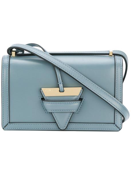LOEWE women bag shoulder bag leather blue