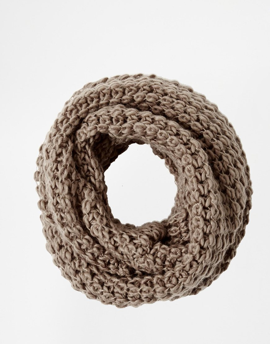 Liquorish chunky knit infinity scarf at asos.com