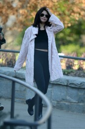 boots,selena gomez,coat,shoes