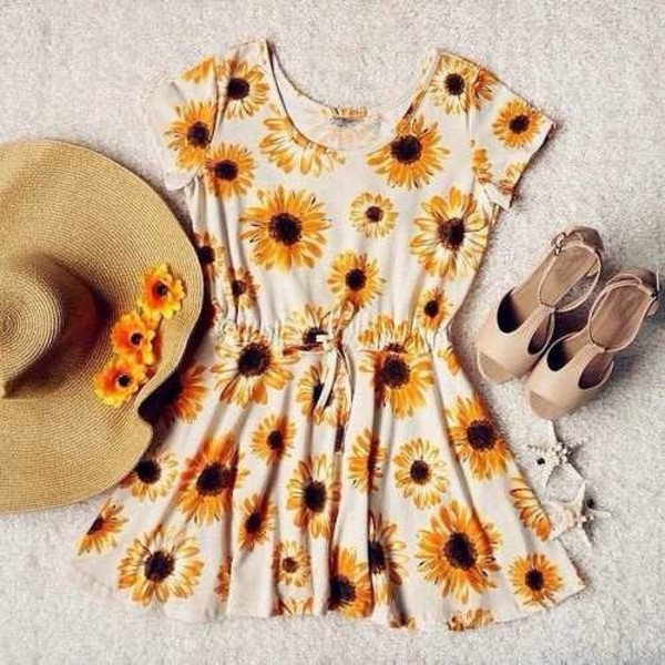 jumpsuit sunflower white hat shoes dress activewear yellow sunflower yellow sunflower dress short dress vintage boho hippie floral dress summer dress