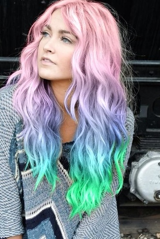 tie dye hairstyles pastel hair