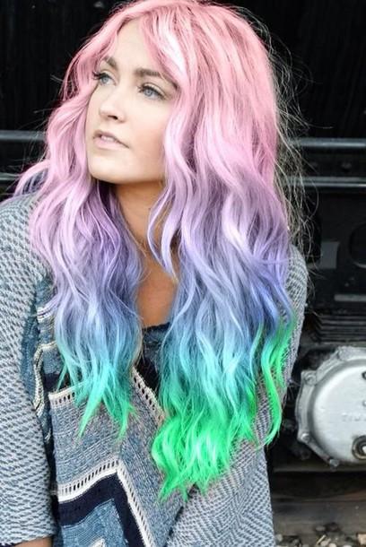 tie dye hairstyles pastel hair