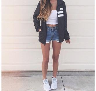 jacket black two stripes nike jacket nike air black jacket black and white bag