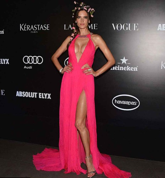 dress alessandra ambrosio chlotes