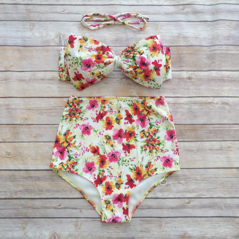 9a5b635e1f Vintage Style High Waisted Pin-up Swimwear - Beautiful Pink ...