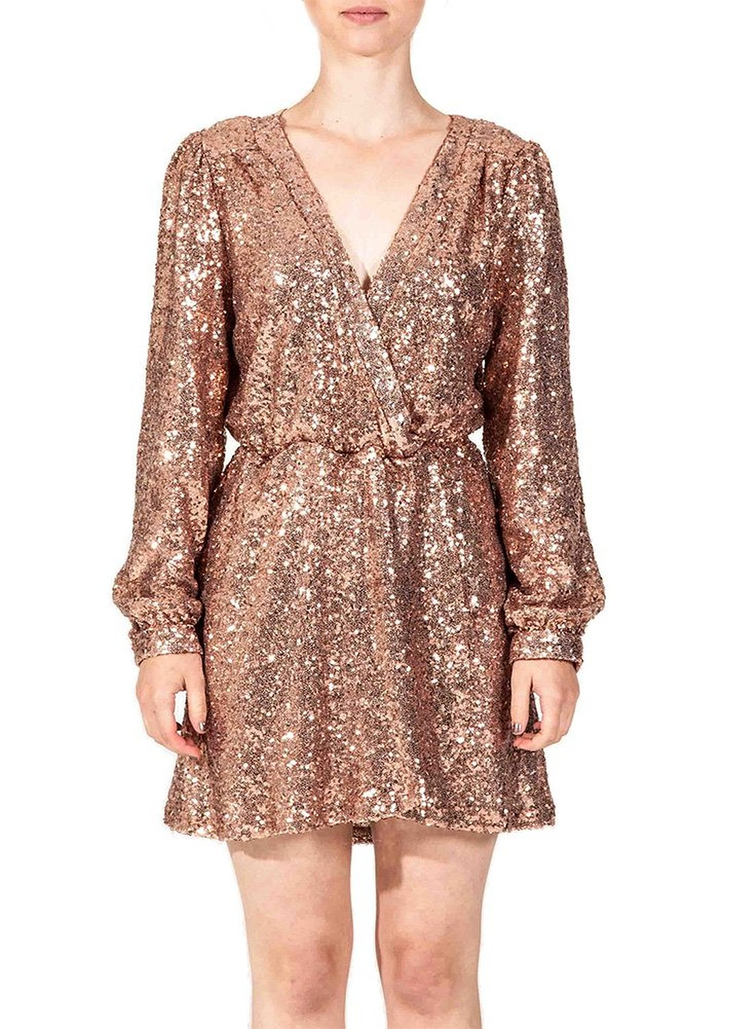Honey punch women's sequins wrap dress at amazon women's clothing store: