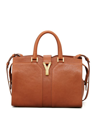 Saint Laurent Y Ligne Mini Tote Bag, Brown