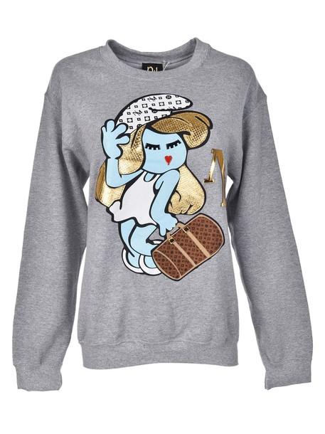 Nil sweatshirt girl blue grey sweater