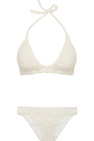 Lisa Maree | Walk That Walk crocheted cotton-blend bikini | NET-A-PORTER.COM