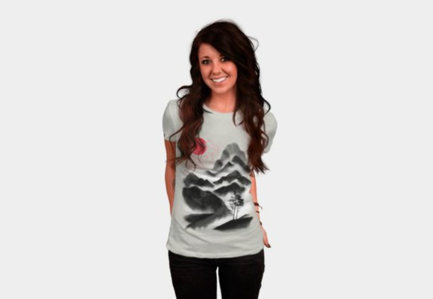 shirt black and white t-shirt graphic tee women's t-shirt men's t shirt landscape shirt landscape print scenic print abstract shirt abstract print