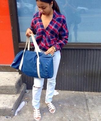blouse jeans flannel plaid blouse unique plaid skirt unicorn shirt