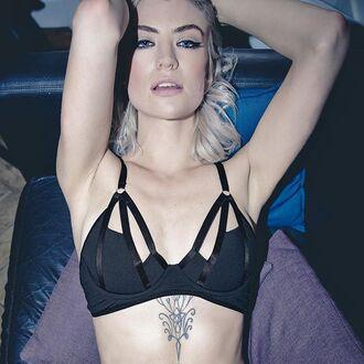 underwear lingerie bra black sexy black bra black underwear sexy lingerie body fashion style clothes women outfit hot bralette top wolf