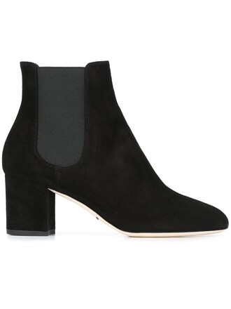 women spandex boots chelsea boots leather suede black shoes