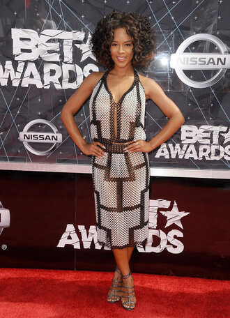 dress metallic dress bet awards sandals