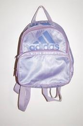 bag,adidas,backpack,pastel,sportswear,purple,babygirl asf,vintage,cute,cute outfits