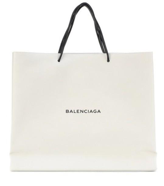 Balenciaga leather white bag