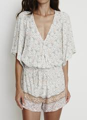 FADED OUT FLORAL - YACHT PLAYSUIT