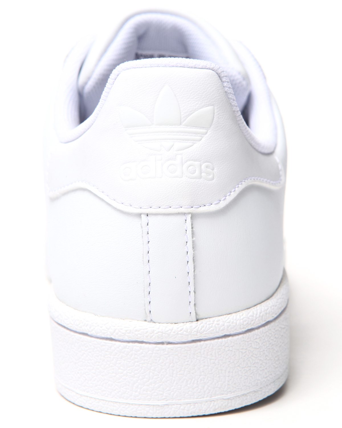 Superstar 2 white on white sneakers by adidas